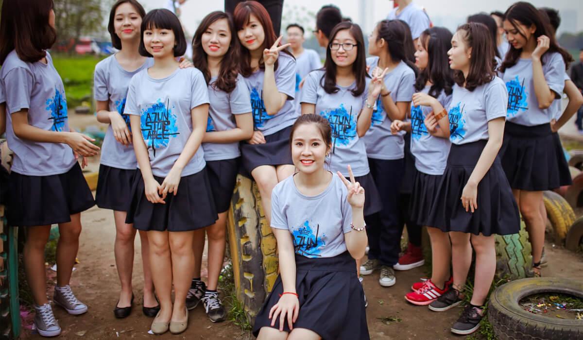 Áo phông đồng phục học sinh luôn mang lại sự tự tin cho các bạn học sinh