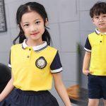 Mẫu áo phông đồng phục học sinh tiểu học đẹp nhất hiện nay